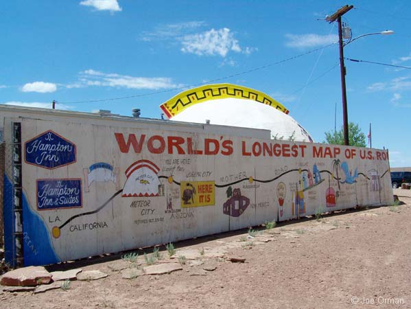 Map Of Old Route 66 Arizona.Joe Orman S Photo Pages Old Route 66 In Arizona Winslow To Flagstaff